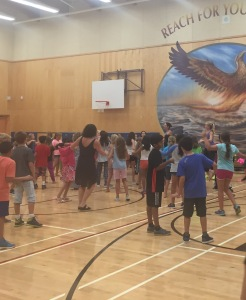 Zumba: On Thursday, students experienced Zumba in the gym. Great fun was had by all!