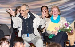 Saying goodbye to Mr. Saide. Image credit: Eric Saide Photography