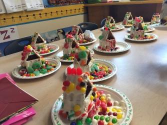 Gingerbread houses from Kindergarten..
