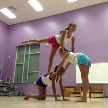 Aliya, Makayla and Zara shared Acro with us.