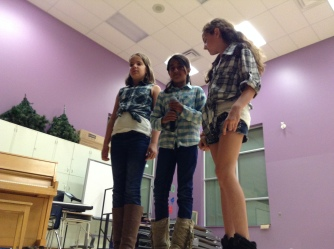 "Maya, Andjelina and Kaelyn sang a great rendition of the ""Cup Song"""